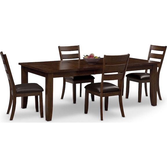 Abaco 5 pc dinette value city furniture for Dining room furniture outlet