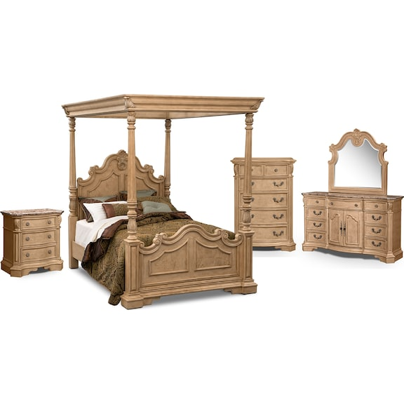 american signature furniture monticello almond canopy bedroom