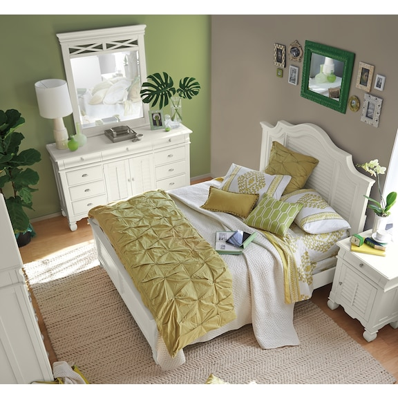 the plantation cove white panel collection value city