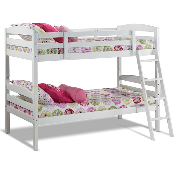 Charlie Twin Bunk Bed White Leon S