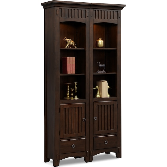 Entertainment furniture arts crafts dark ii double for American signature furniture arts and crafts collection