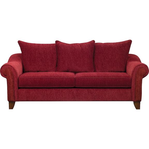 Reese chenille queen sofa bed red the brick for Sofa bed the brick