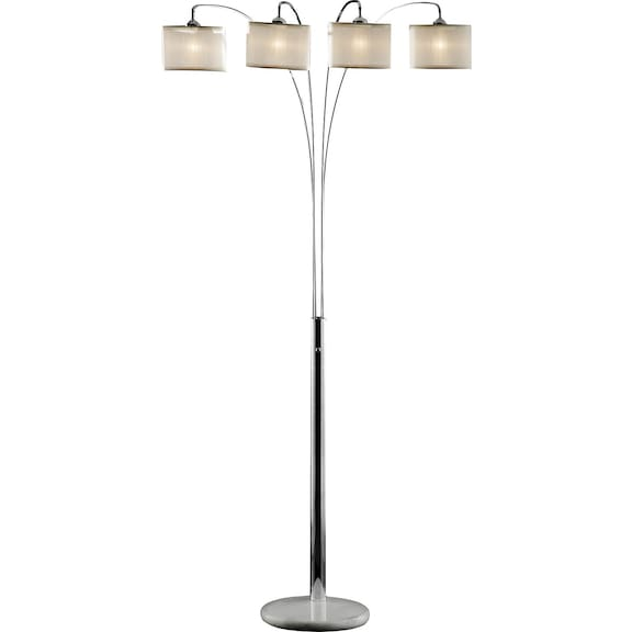 home accessories chrome and marble 4 light arc floor lamp. Black Bedroom Furniture Sets. Home Design Ideas