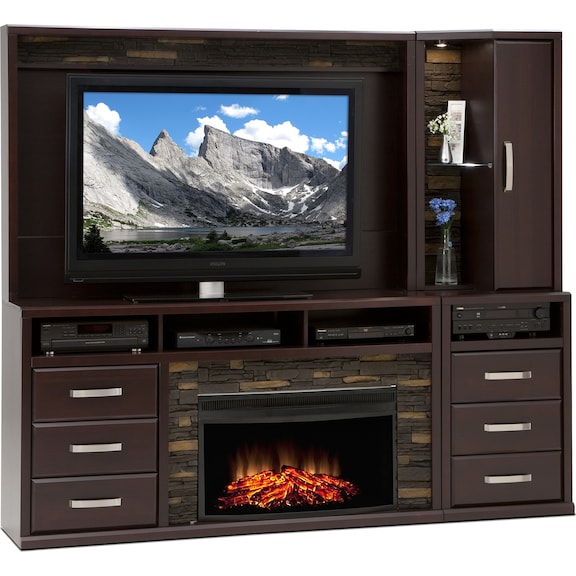 Gamble 5 Pc Fireplace Wall Unit Leon 39 S