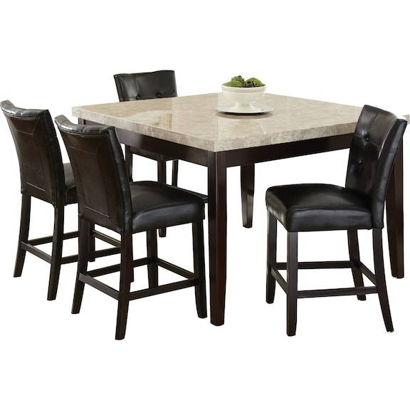 dining room furniture montibello 5 piece counter height dining
