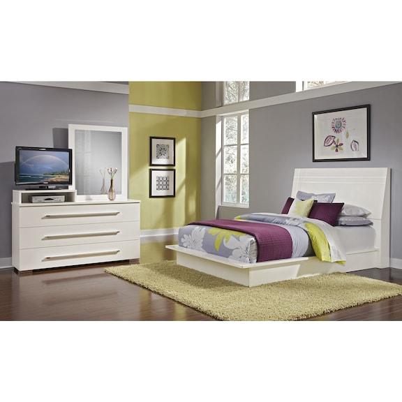 Dimora White II 5 Pc Queen Bedroom Value City Furniture