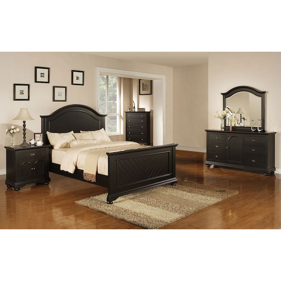kids furniture brook black 7 piece twin bedroom set