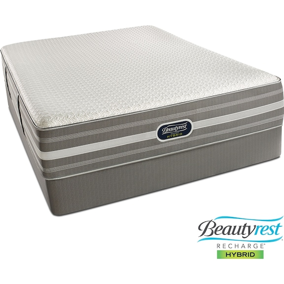 Cheap Luxury Home Iseries Profile Super Pillowtop Caliber Mattress Set By Serta, Full