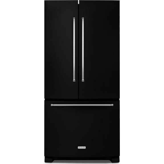Kitchenaid 22 1 Cu Ft French Door Refrigerator With Interior Water Dispenser Black The Brick