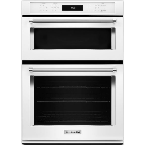 KitchenAid White Wall Oven (5 Cu. Ft.) W/ Microwave (1.4
