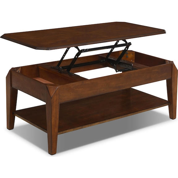 Duntara coffee table with lift top the brick for Coffee tables homesense