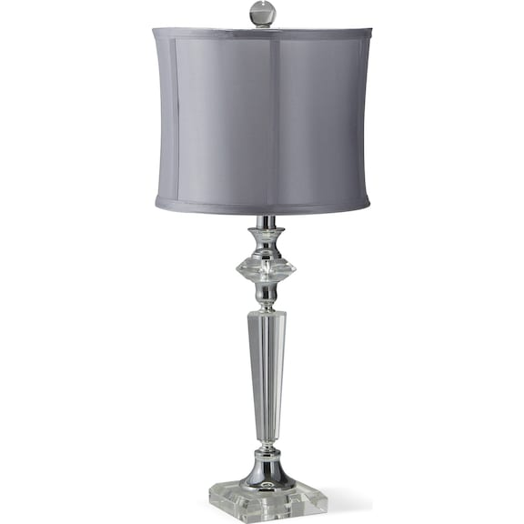 crystal silver table lamp value city furniture