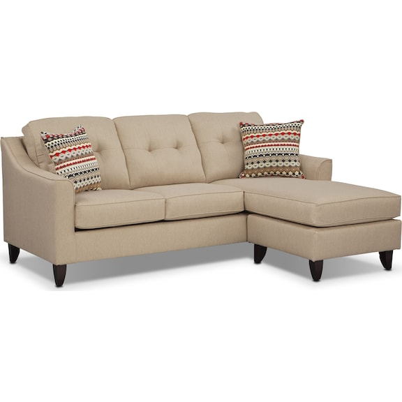 Living Room Furniture Marco Cream Chaise Sofa