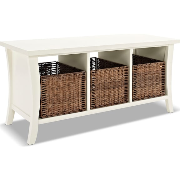 accent and occasional furniture mae white entryway storage bench. Black Bedroom Furniture Sets. Home Design Ideas