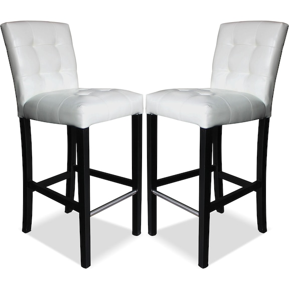 Dining Room Furniture Cosmo Bar Stool Set Of 2 White