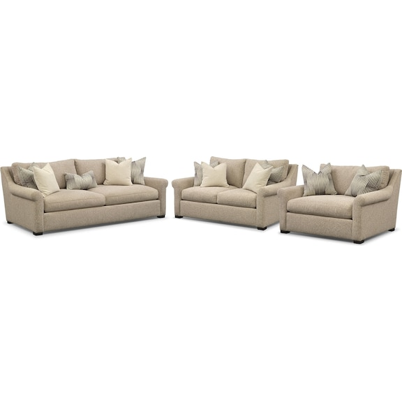 Robertson cumulus 3 pc living room package value city for Furniture 3 room package